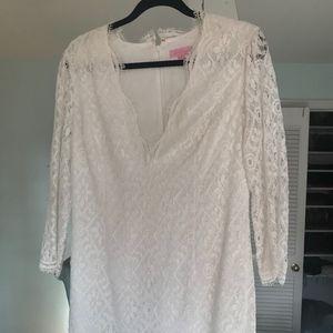 Lilly Pulitzer White Lace mini Dress Size 10